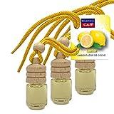 BOLAROMA Pack 3 ambientadores Coche Botella 4,5 ml Fragancia limón