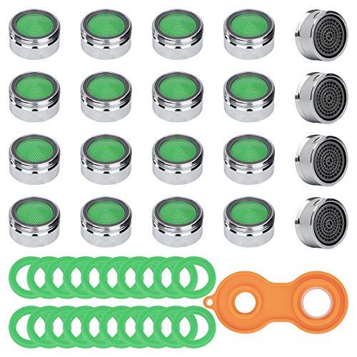 20 Stück Strahlregler Wasserhahn M24 Perlatoren für Wasserhähne mit Gummidichtungen Luftsprudler mit 24 mm Aussengewinde Wasserhahn Sieb Perlatoren für Bad Küche