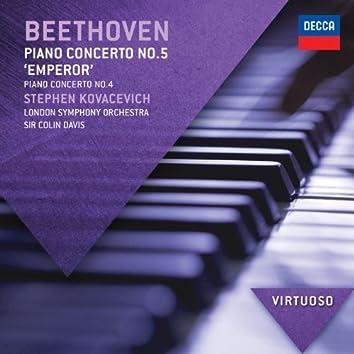 """Beethoven: Piano Concerto No.5 - """"Emperor"""";  Piano Concerto No.4"""