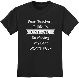 Tstars - Dear Teacher I Talk to Everyone Funny School Youth Kids T-Shirt