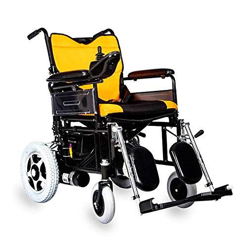 Haojie Plegable Ligero Anciano eléctrico electromagnético electromagnético Freno automático Scooter discapacitado Ligero Plegable Silla de Ruedas