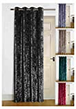 umlout Argra Charcoal Thermal Crush Velvet Winter Door Curtains- Saves Energy, Prevents Draughts Reduces Heat Loss