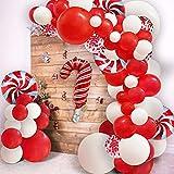 115pcs Christmas Red Balloon Garland Arch Kit...