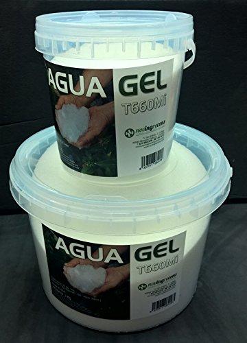 NOVINGRECONS Agua Gel - Formato Jardin/Huerto. Retenedor Agua Multiples Ciclos Uso. Cubo 5Kg.