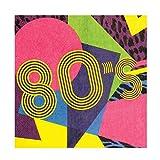 Boland 44608–Set 12Servietten Jahre '80, Mehrfarbig