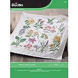 Bucilla Wildflower Botanical Lap Quilt