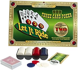 TDC Games Let It Ride and Three Card Poker Casino Card Game Set