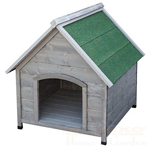 SSITG XXL hondenhut wit of grijs hondenhuis hond huis massief hout weerbestendig