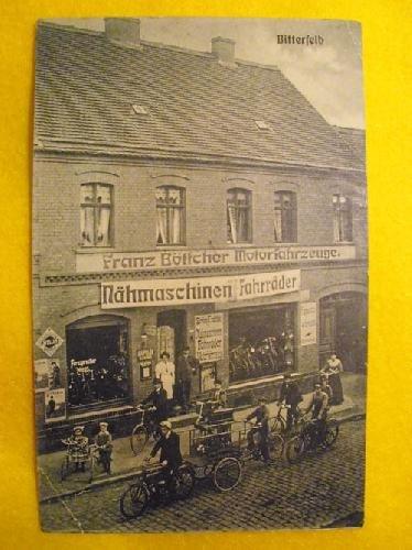 Antigua Postal Publicidad - Advertising Old Postcard : Franz Böttcher - fahrräder...