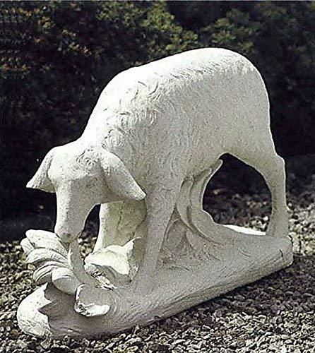 pompidu-living Schaf 5333, Gartenfigur, Steinfigur, Steintier Farbe Sandstein