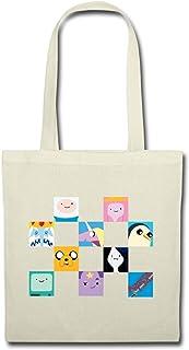 Spreadshirt Adventure Time Mit Finn Und Jake Charaktere Kachel Stoffbeutel