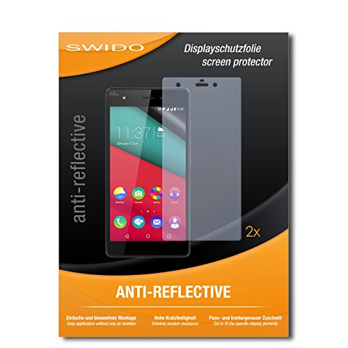 SWIDO Schutzfolie für Wiko Pulp 4G [2 Stück] Anti-Reflex MATT Entspiegelnd, Hoher Festigkeitgrad, Schutz vor Kratzer/Bildschirmschutz, Bildschirmschutzfolie, Panzerglas-Folie