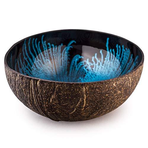Kaloogo® Cocobowl Organic Splash Kokosnuss Schale (blau)
