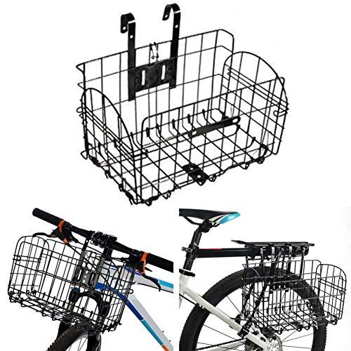 Hete-supply Fietsmand Achterstoel | Fietsmand Voor Honden | Mountain Cycling Opvouwbare Huisdier Mand | Iron Bike Manden Voor Vrouwen Mannen Zwart Gaas