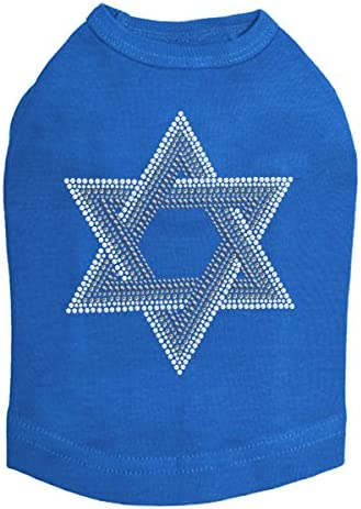 Star of David Gray and Clear S Hanukkah - Rhinestone 40% OFF Cheap Sale safety Dog Bling