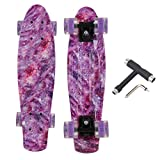 OUDEW Skateboards Complete 22 Inch Mini Cruiser Retro Skateboard with...
