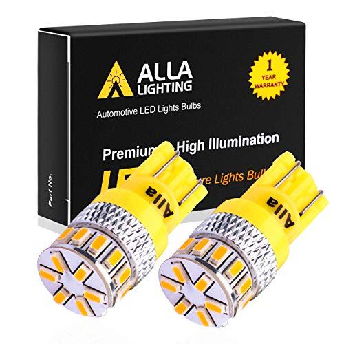 Alla Lighting T10 Wedge Amber Yellow 194NA 194 168 2825 175 W5W W10W LED Bulbs...