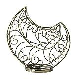 Feixunfan Estante de vino barroco de pie para encimera de metal de mesa, soporte de almacenamiento de vino de bronce para bodega sótano (color: bronce, tamaño: 1 botella)