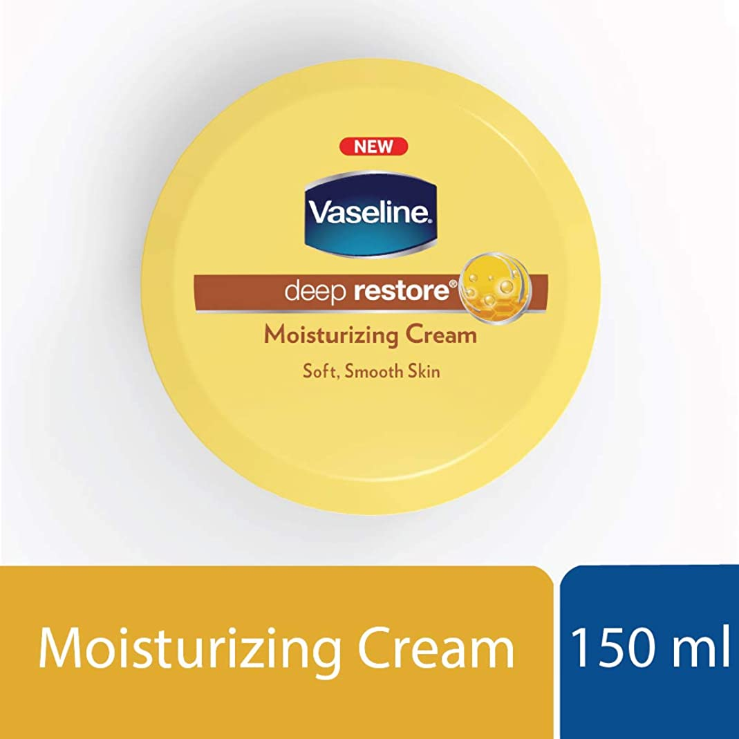 レイアウト夕食を食べる不平を言うVaseline Deep Restore Body Cream, 150ml