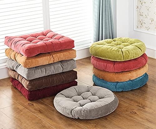 Cojín de asiento cuadrado sólido, espesado de acolchado con almohada con almohada con almohada suave Pad Tatami Suelo Cojín para la meditación de yoga Sala de estar Balcón, verde, 22x22 pulgadas