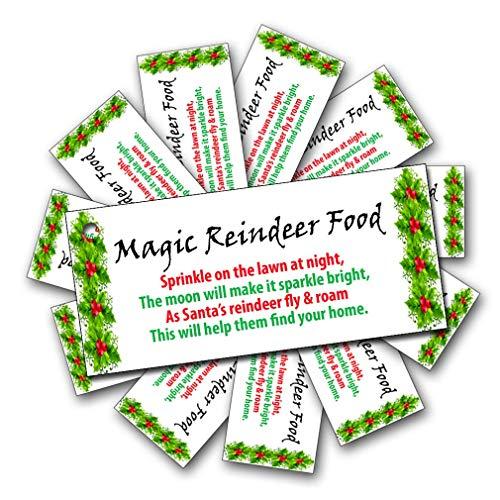 Party People 12, 24 or 48 Christmas Tags for Sweet Bags - Reindeer Food (48)