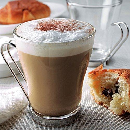 Packung 3Tassen aus Glas 22cl mit Griff cappuccino Kaffee Punch Bar Restaurant Tisch Moka Typ Bormioli Oslo