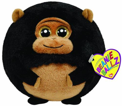 Ty 7138042 – Réservoir Ballon – Gorilla Noir/Marron, 12 cm, Beanie Ballz
