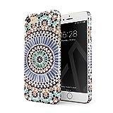 BURGA Hülle Kompatibel mit iPhone 7/8 / SE 2020 - Handy Huelle Pastel Illusion Moroccan Marrakesh Tile Pattern Colorful Mosaik Dünn Robuste Rückschale aus Kunststoff Handyhülle Schutz Hülle Cover