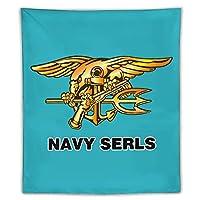 US Navy Seal タペストリー壁掛けリビングルーム寝室寮部屋家の装飾ポスター