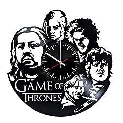 game of thrones handmade gifts ~ silhouette wall clock