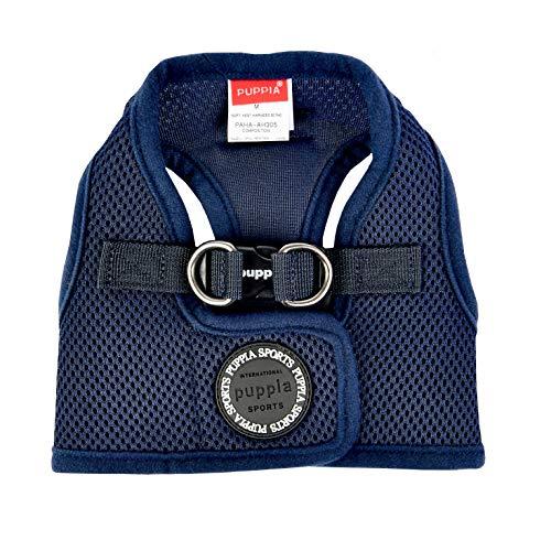 PUPPIA International PUAH305NYMD Soft Harness B Vest, Medium,Navy