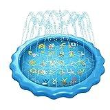 Tuimiyisou Pad Tapis De Jeu pour Enfants Lettre Piscine Extérieure Gonflable pour Les Enfants Sprinkler Pad Vaporiser Jardin D' Jouets Sprinkler Dentelle Style