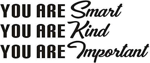 TOARTi You are Smart You are Kind You are Important Wall Decal, Inspirational Lettering Vinyl Wall Sticker for Office Classroom Decor, Black