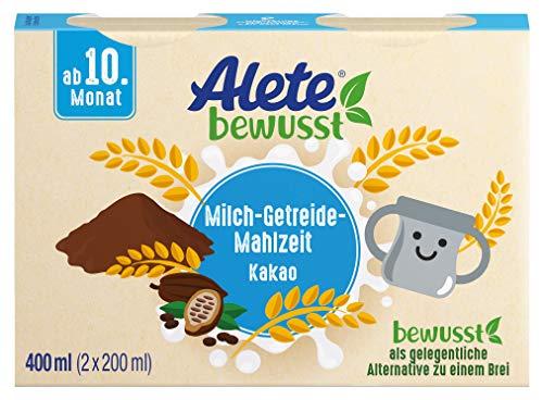Alete bewusst Milch-Getreide-Mahlzeit Kakao, ab dem 10. Monat, 400 ml