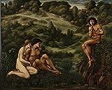 GTZXHNM Pintura por Números Jardinero de Edward Burne-Jones para Adultos y niños Pintar 40X50CM DIY al óleo de Bricolaje con Marco Personalizado Kit Pinceles Principiantes Lienzo Decoraciones