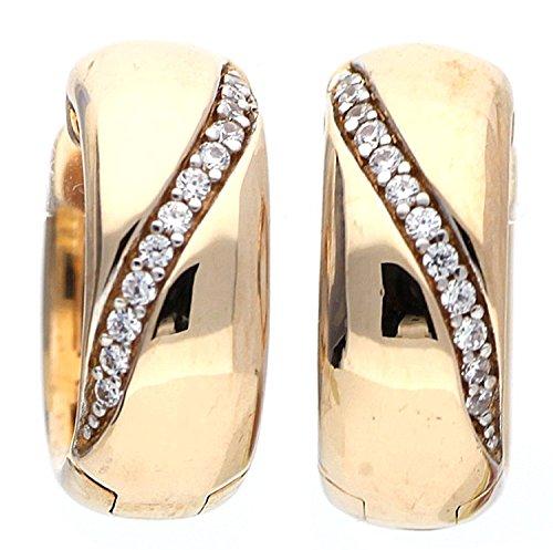 Esprit Damen-Creolen 925 Sterling Silber Zirkonia DANAE ELCO91739B000
