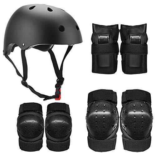 Lixada 7-w-1 zestaw ochronny z ochraniaczami na kolana i łokcie, kask dla dzieci, młodzieży, dorosłych, wielofunkcyjny zestaw ochronny, do jazdy na rowerze, jazdy na rolkach