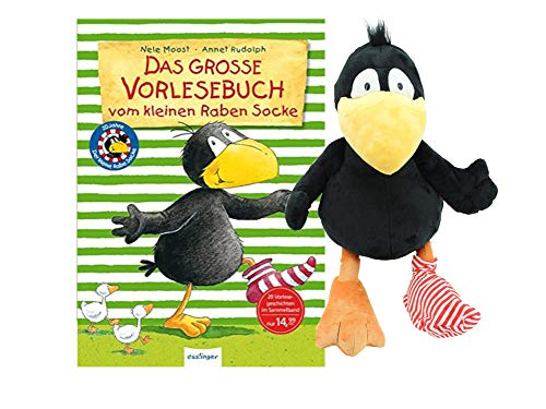 Das große Vorlesebuch vom kleinen Raben Socke (Gebundenes Buch) + Der kleine Rabe Socke Plüschfigur
