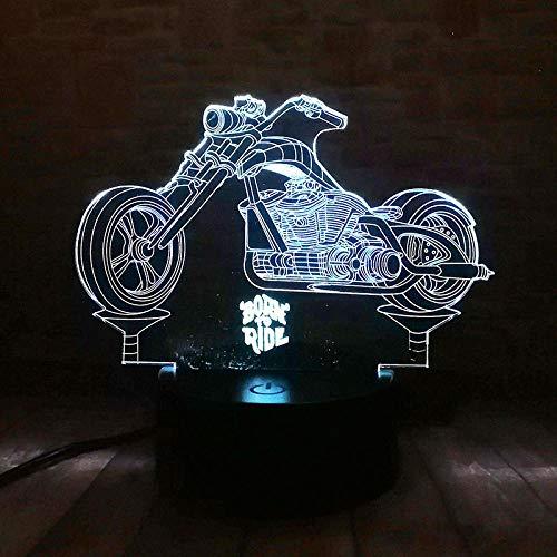 Illusionslicht Des Nachtlichts 3D Motorrad Figur 3D Illusion Led Nachtlichter Beleuchtet Bunte Touch Lichterketten Tischlampen Geburt Reiten Modell Spielzeug