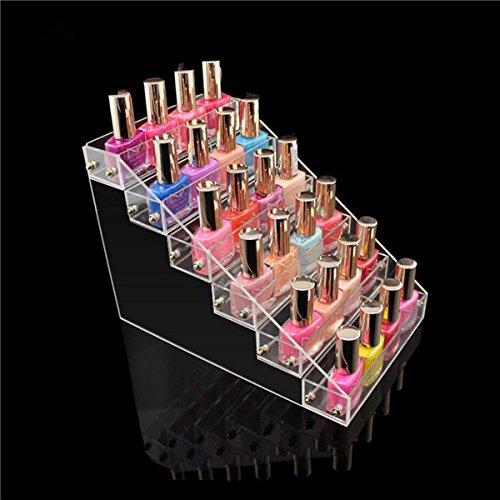 QuickShop Organiseur de vernis à ongles en acrylique transparent 6 niveaux