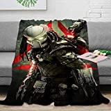 Coobal Movies and Tv Fleece Blanket Throw Size Predator Plush Blanket hed Resistant for Adults and Children