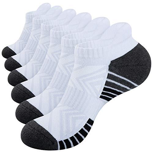 Benirap Running Socks, 6 Pairs Anti Blistered Ankle Socks Breathable Trainer Socks Sports Socks Low Cut Socks for Men women Ladies as Work Socks