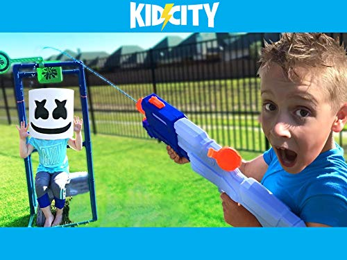 KidCity's Squirt Gun Obstacle Course!