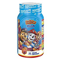 commercial kid gummy vitamin L'il Critters Paw Patrol 60 Complete Multivitamin Gummies