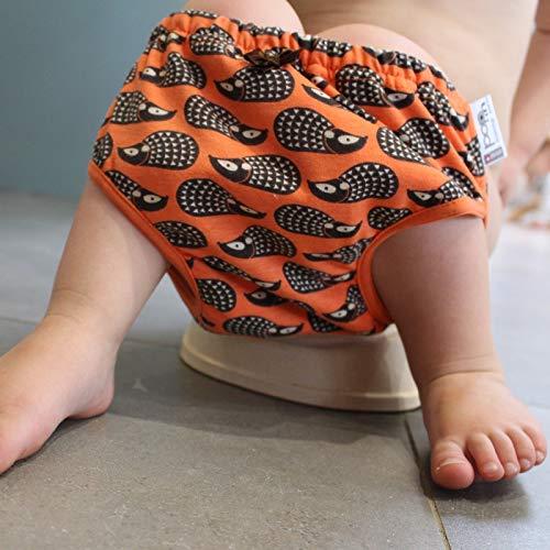 Close Parent Pop-In Pantaloncito Aprendizaje Día, Talla 2, Hedgehog, Naranja Oscuro