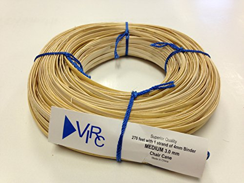 Chair Cane Medium 3mm 270 ft Coil with 1 Strand of 4mm Binder Cane