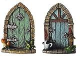 Fiesta Studios - Statuetta decorativa in miniatura, motivo: Pixie, elfo, porta delle fate,...
