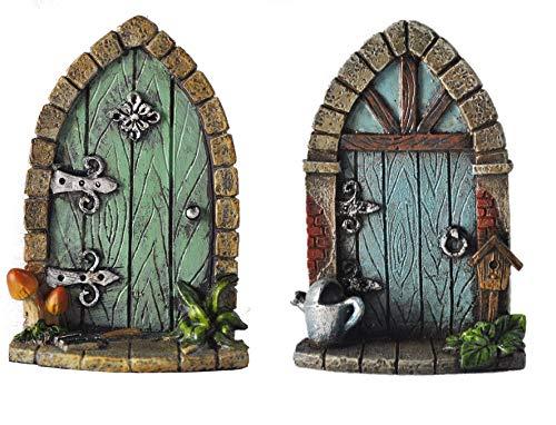 Fiesta Studios Miniatura Pixie, elfo, puerta de hadas, árbol de jardín, decoración del...
