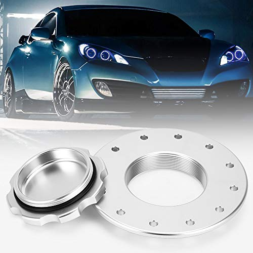 PQY Billet Aluminum Easy Fill Fuel Cell Gas Cap with 12 Hole Cell Bung