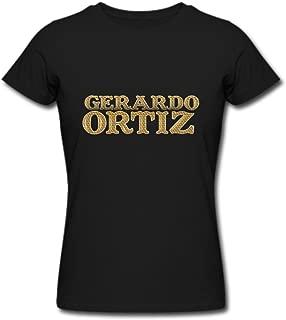 TOGEB Gerardo Ortiz Logo Lady Short T-Shirt Young T-Shirts Black